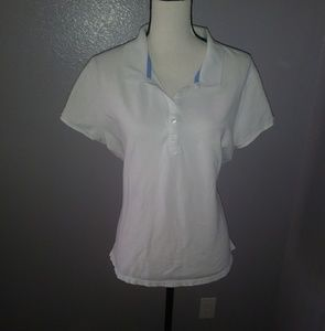 Old navy white polo collared top